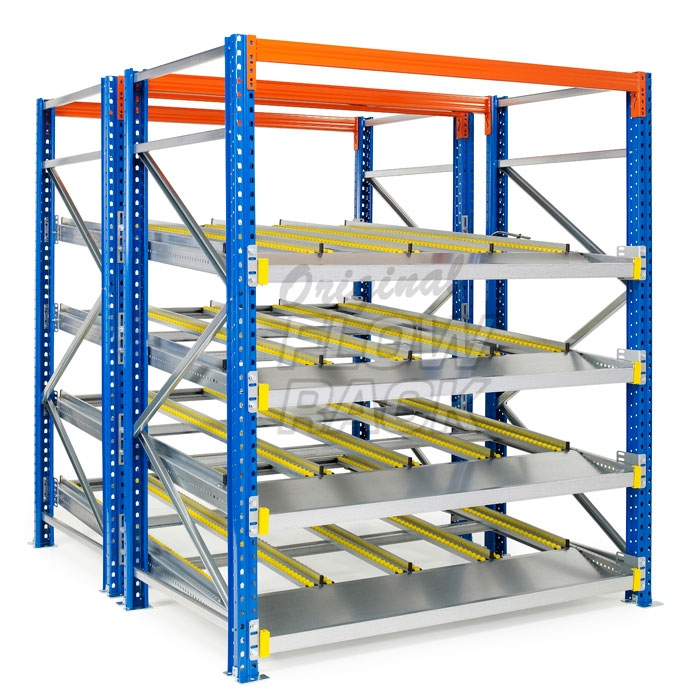 Doorrolframes KLT-versie palletstelling dubbeldiep