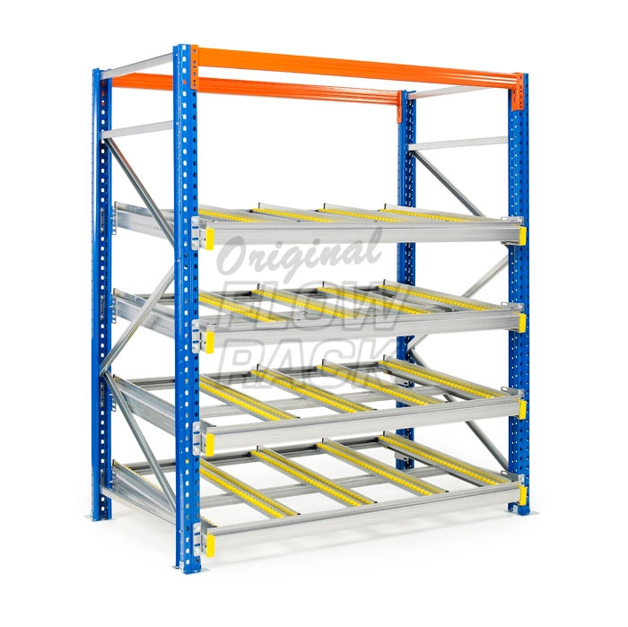 Doorrolframes KLT-versie palletstelling enkeldiep