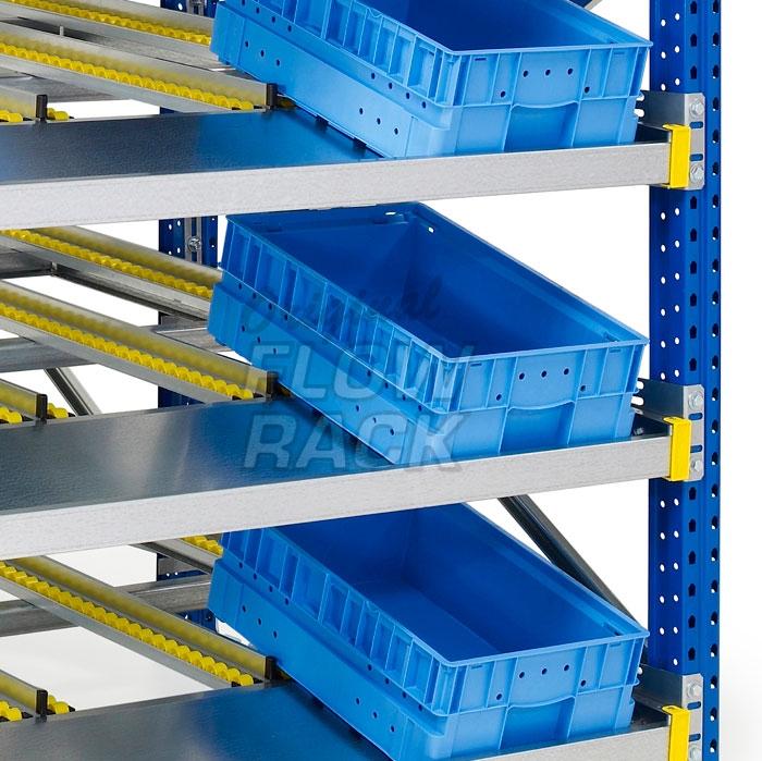Doorrolframes KLT-versie palletstelling enkeldiep